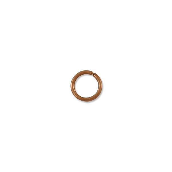 8mm Antique Copper Plated Round Open Jump Ring (50-Pcs)