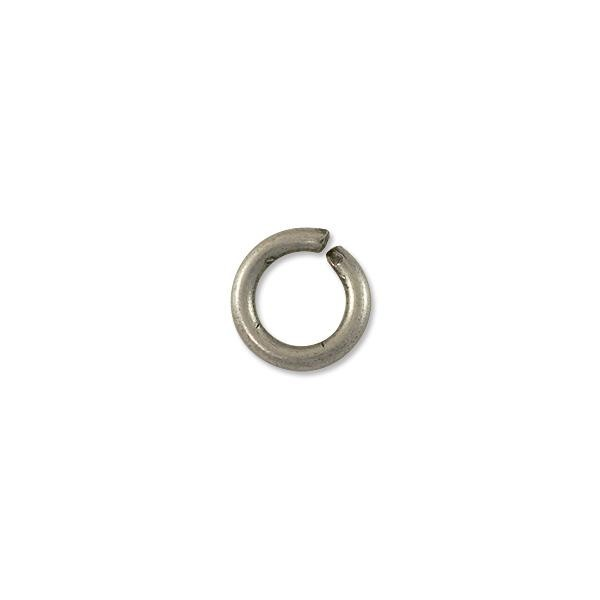 10mm Antique Silver Plated Round Open Jump Ring (10-Pcs)