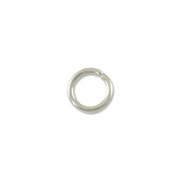 12mm Silver Plated Round Open Jump Ring (5-Pcs)