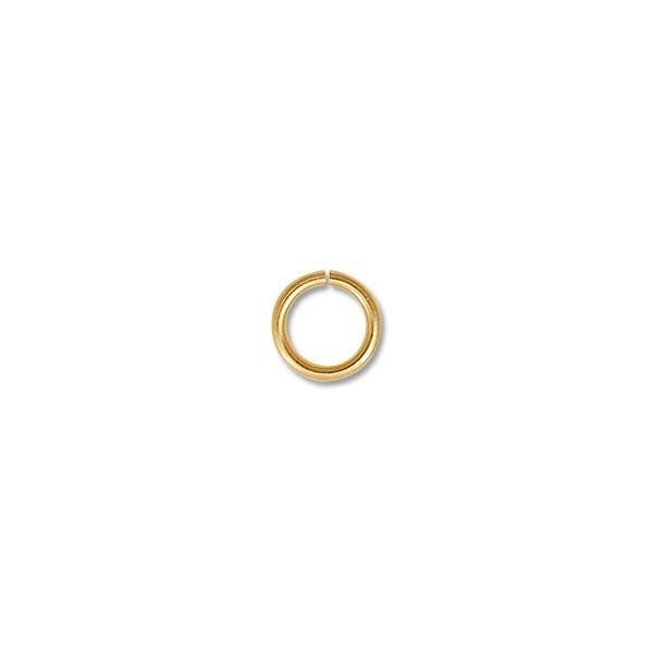 6mm Bright Gold Plated Round Open Jump Ring (100-Pcs)