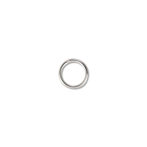 Jump Ring - Open 6.5mm Silver Color (50-Pcs)