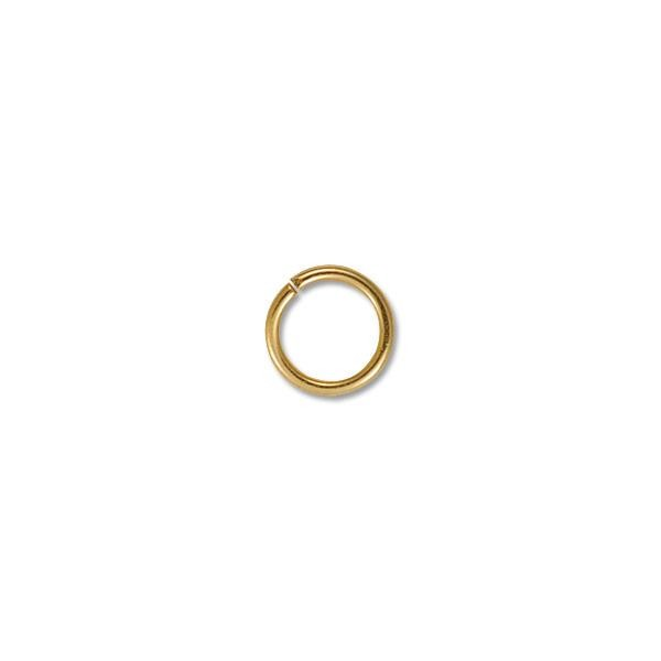 10mm Gold Plated Round Open Jump Ring (1000-Pcs)