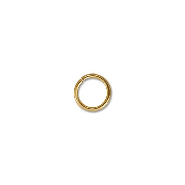 8mm Gold Color Round Open Jump Ring (20-Pcs)