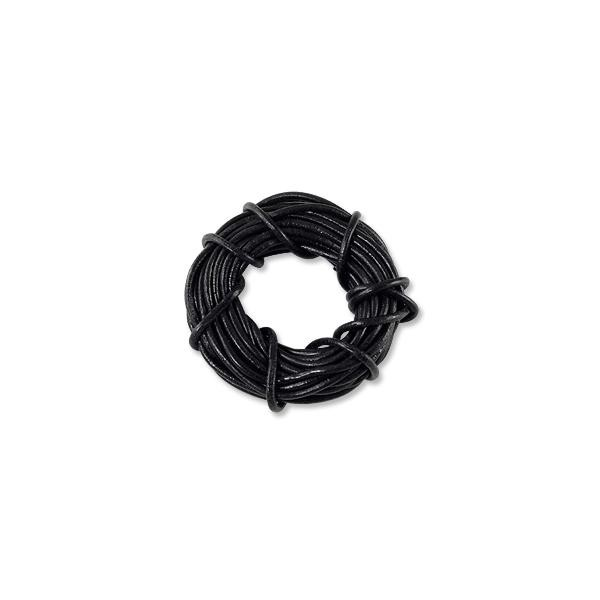 Leather Cord 2mm Black (Priced per Foot)