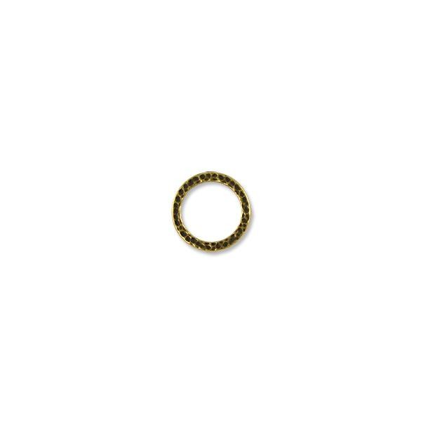 TierraCast Hammered Ring Connector Pewter Antique Brass Plated 19mm (1-Pc)