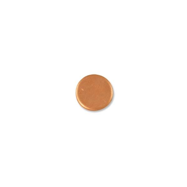 Copper Round 18 Gauge Blank 1/2""