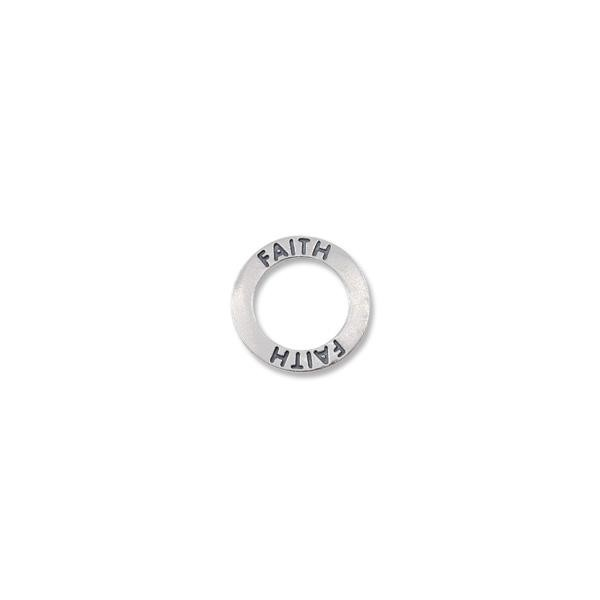 Connector Faith Message Ring 22mm Sterling Silver (1-Pc)