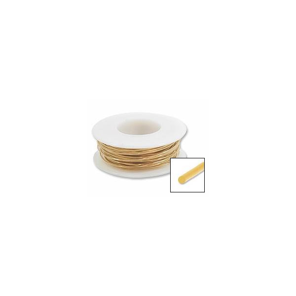 Red Brass Wire 22ga Round (20-Ft)
