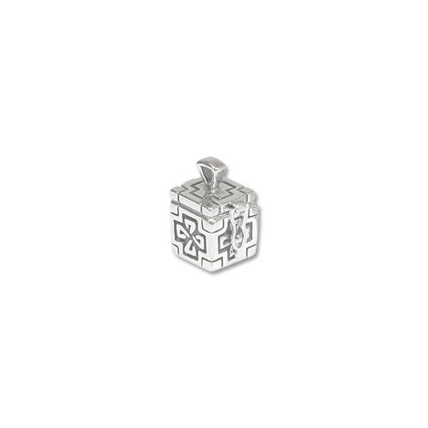 Prayer Box 13x12mm Celtic Design Sterling Silver (1-Pc)