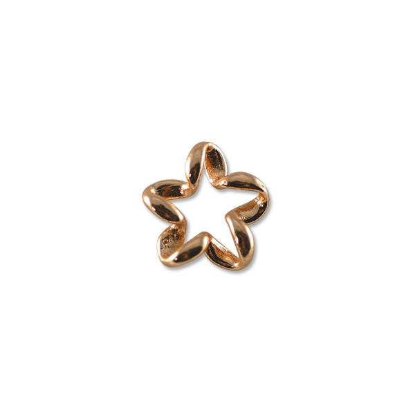 Coiled Flower Pendant 32x30mm Rose Gold Plated (1-Pc)