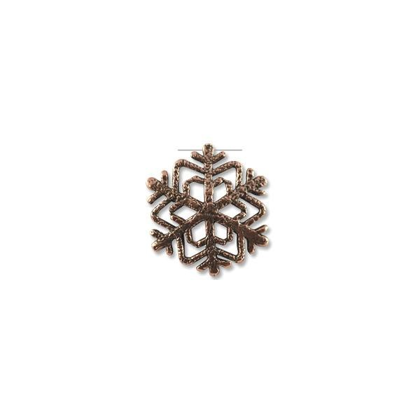 Snowflake Pendant 32x33mm Pewter Antique Copper Plated (1-Pc)