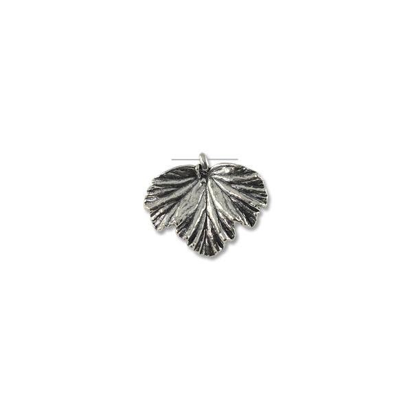 34x40mm Antique Silver Plated Pewter Pendant