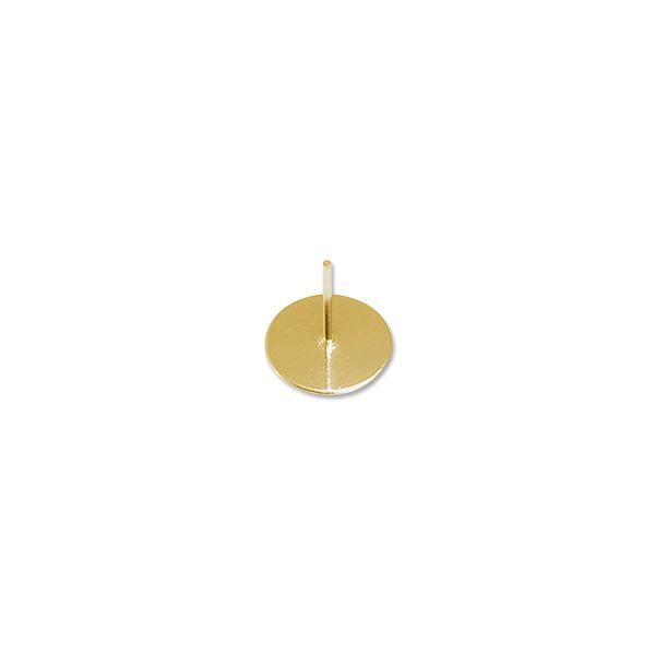 Padded Post 10mm Gold Plated (10-Pcs)