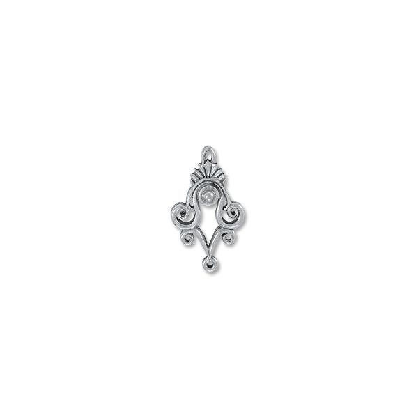 Earring - Chandelier 20x34mm Pewter Antique Silver Plated (1-Pc)
