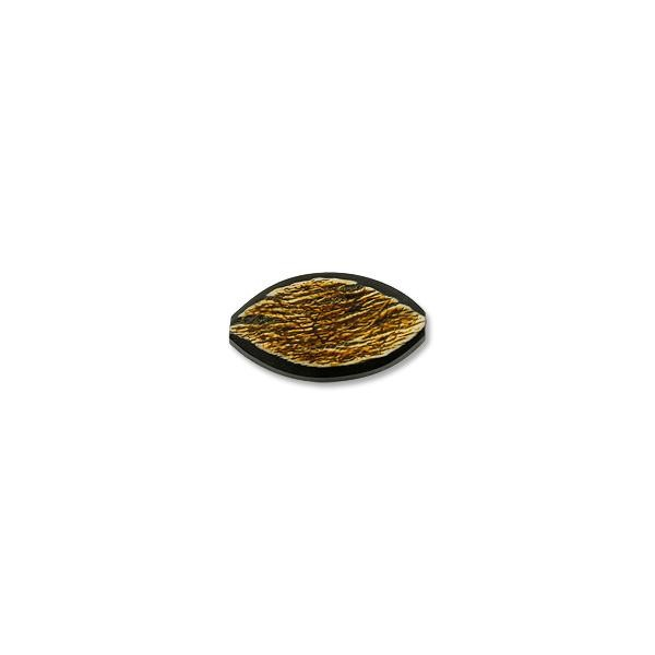 Horn Bead Distressed Oval 33x19mm (1-Pc)