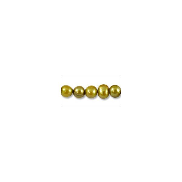 "10 Strands of Freshwater Potato Pearls Gold 7-8mm (16"" Strands)"