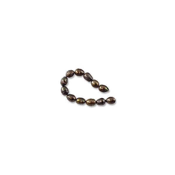 "Freshwater Rice Pearl Dark Bronze 7-8mm (16"" Strand)"