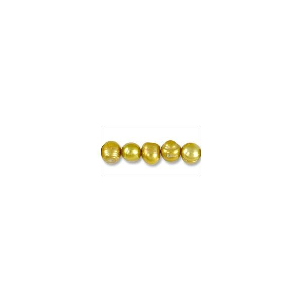 "10 Strands of Freshwater Potato Pearl Gold 8-9mm (16"" Strand)"