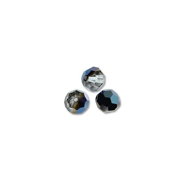 Swarovski Round Crystal Bead 5000 4mm Crystal Metallic Blue (6-Pcs)