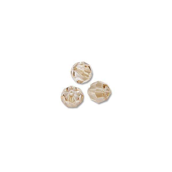 Swarovski 5000 6mm Crystal Golden Shadow Round Bead (1-Pc)