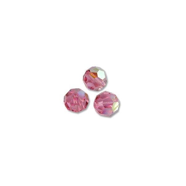 Swarovski Round Crystal Bead 5000 8mm Rose AB (3-Pcs)
