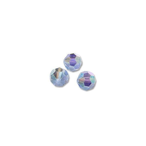 Swarovski Round Crystal Bead 5000 8mm Light Sapphire AB (3-Pcs)