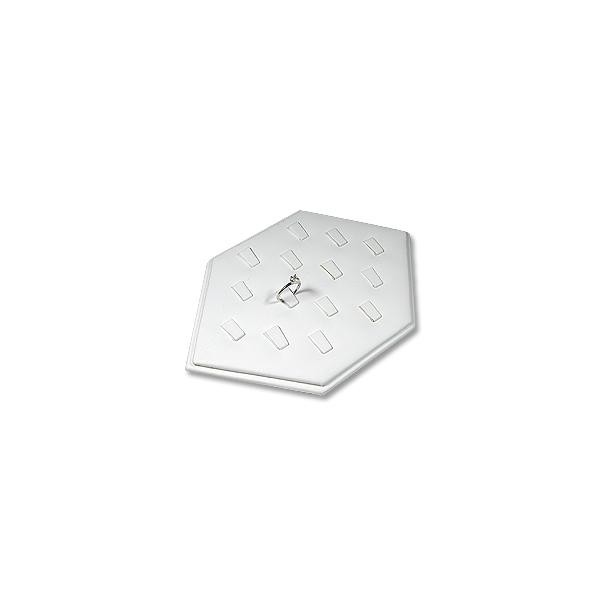 White Hexagon Shaped Ring Display