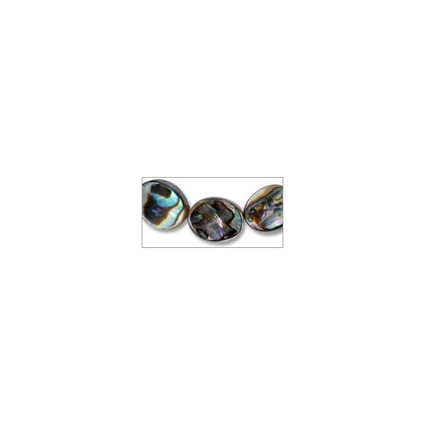 "Abalone Shell Oval Beads 12x8mm (16"" Strand)"