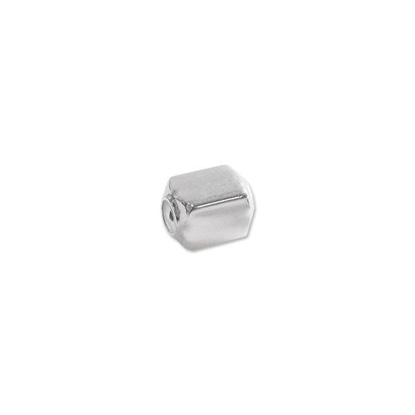 Smart Bead Rectangle 5x4mm Sterling Silver (1-Pc)