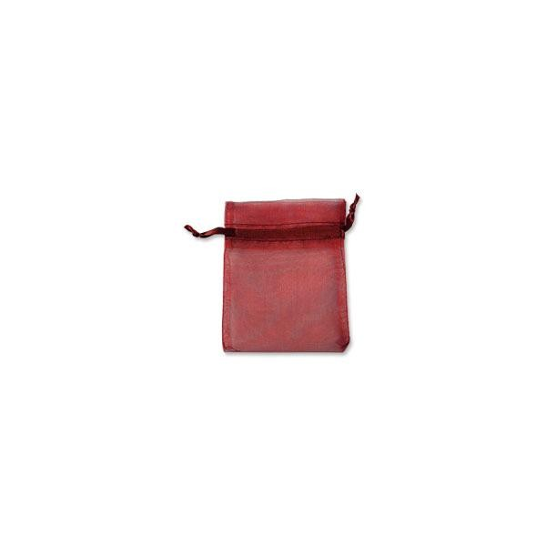 Organza Bags Medium Burgundy (10-Pcs)