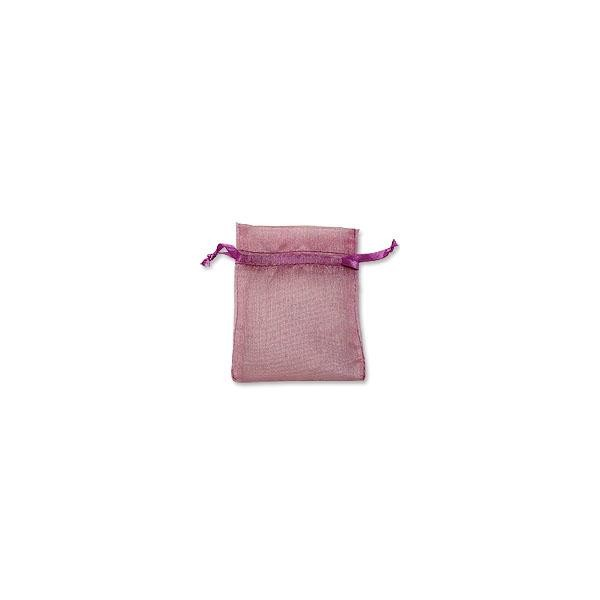 Organza Bags Medium Pink (10-Pcs)