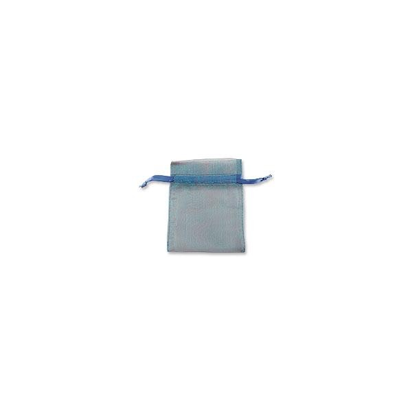 Organza Bags Medium Blue (10-Pcs)
