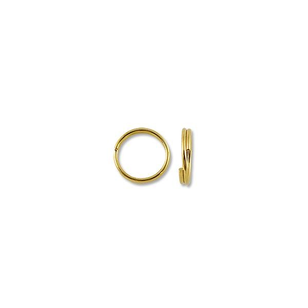 6mm Gold Plated Split Ring (10-Pcs)