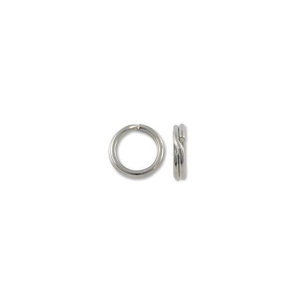 6mm Silver Color Split Ring (10-Pcs)
