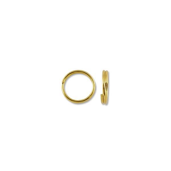 9mm Gold Plated Split Ring (10-Pcs)