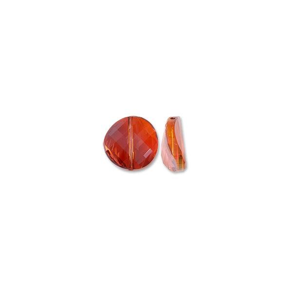 Swarovski Twist Bead 5621 18mm Crystal Red Magma (1-Pc)