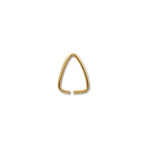 11mm Gold Color Triangle Open Jump Ring (10-Pcs)