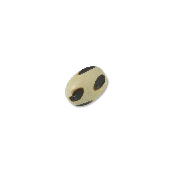 Bleached Grooved Oval Bead 18x13mm (1-Pc)