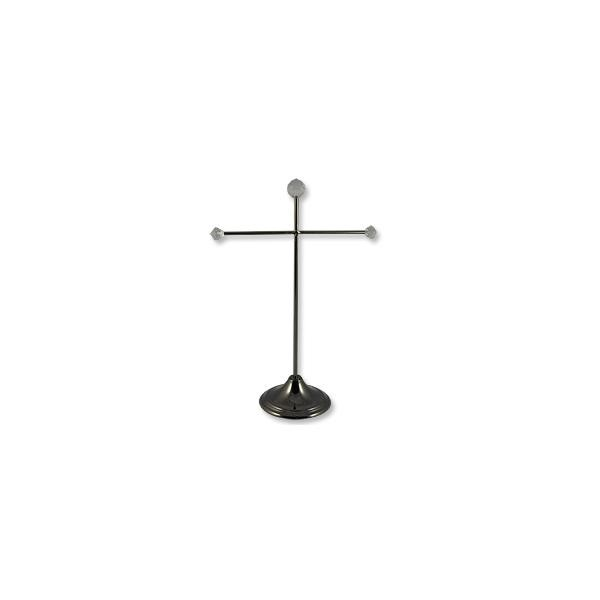 Medium Necklace Stand Black Chrome/Crystal