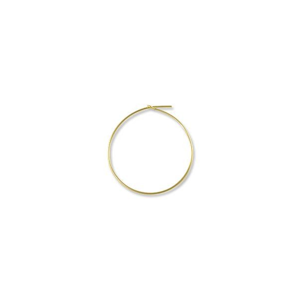 "Beading Hoops 1-1/4"" Gold Filled (1-Pc)"