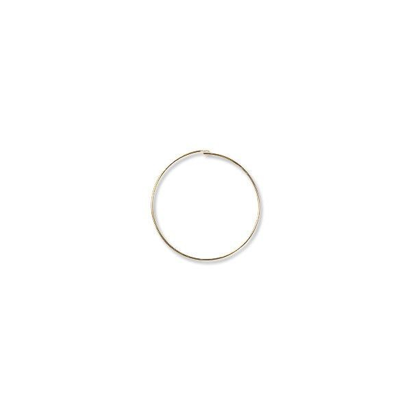 "Wire Hoop 1-1/2"" Gold Plated (6-Pcs)"
