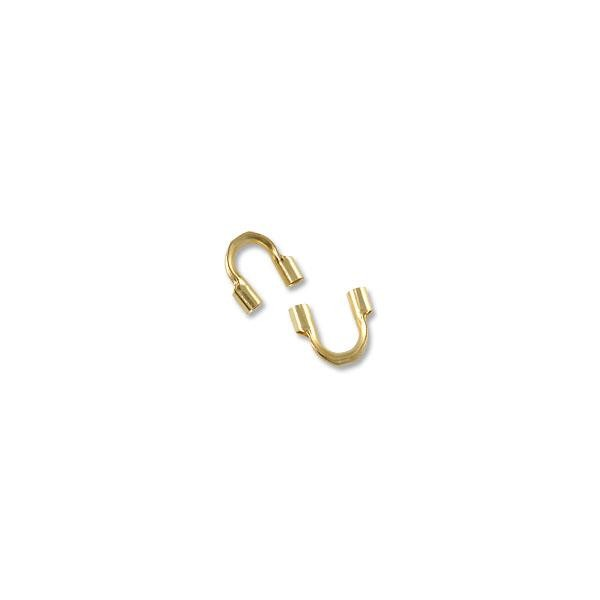 Gold Filled Wire Protector Guard 1mm Hole (2-Pcs)