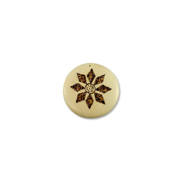 58mm Wood Round Pendant (10-Pcs)