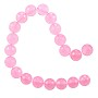 "5 Strands of Dyed Rose Quartz Faceted Beads 10mm (16"" Strand)"