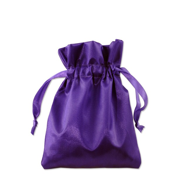 Satin Jewelry Pouch 3x4 Purple (10-Pcs)
