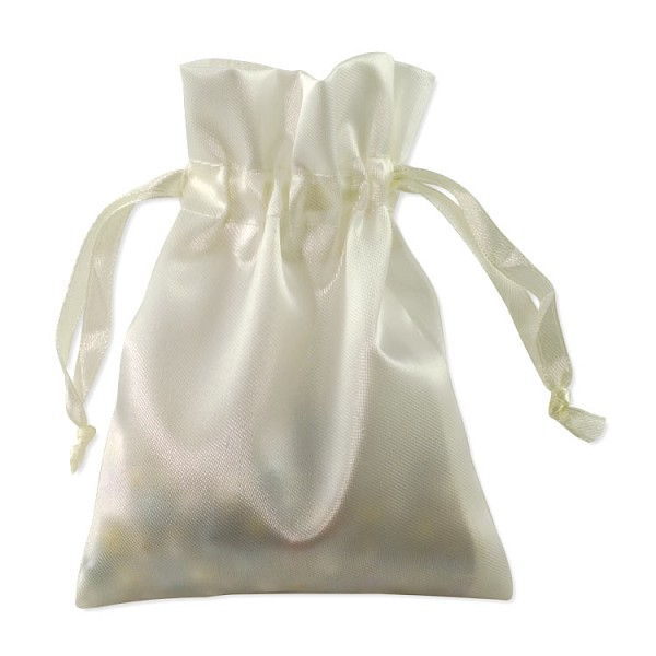 Satin Jewelry Pouch 4x5 Ivory (10-Pcs)