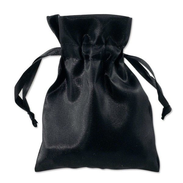 Satin Jewelry Pouch 4x5 Black (10-Pcs)