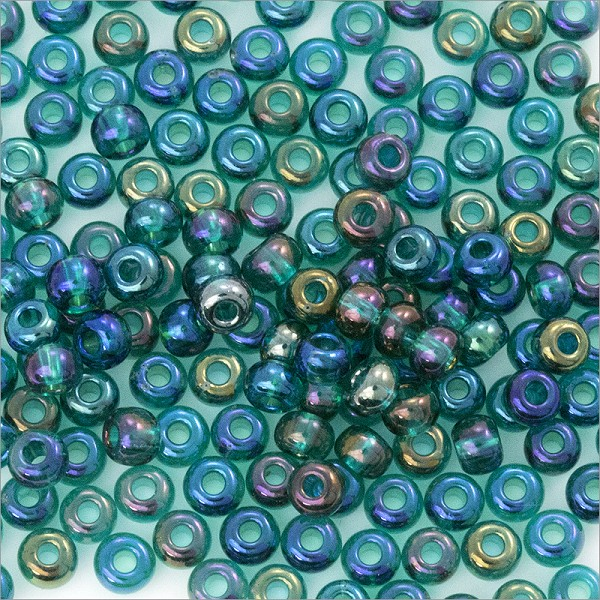 Czech Seed Beads - 6/0 Emerald AB (10 Grams)
