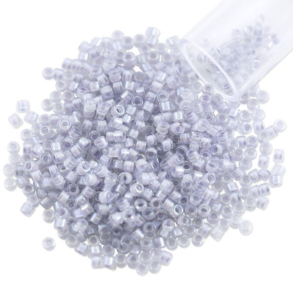 Miyuki Delica Seed Bead 11/0 Color Lined Dove Grey (3 Gram Tube)