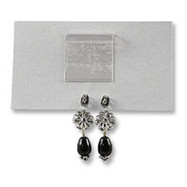 Self-Adhesive Earring Card Adapter 1x1 (100-Pcs)